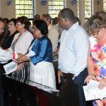 The new Archbishop meets parishoners